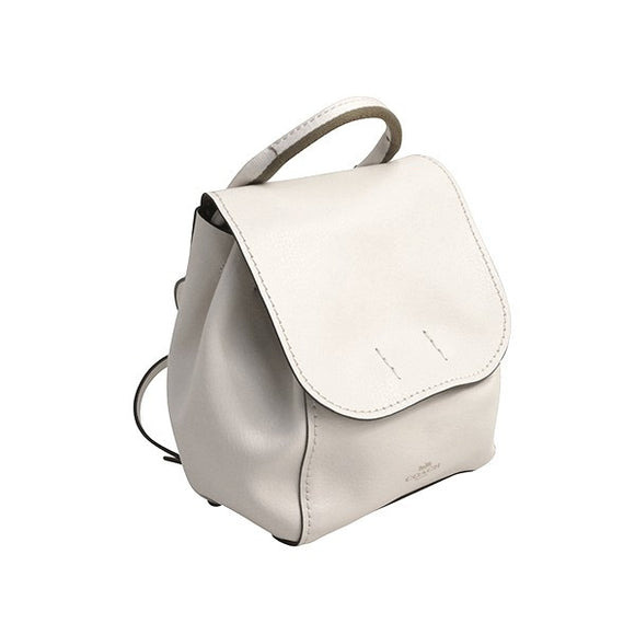 Coach F59401 IMLOM Derby Chalk Neutral With Stripe Webbing Backpack Leather