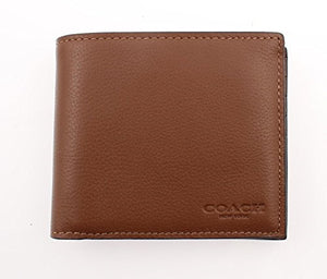 Coach F74991 CWH Dark Saddle Compact ID Sport Calf Men Wallet