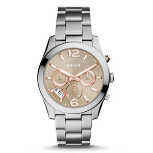 FOSSIL ES4146 Perfect Boyfriend Taupe Neutral Dial Stainless Quartz