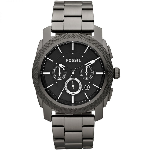Fossil FS4662 Machine Smoke Gray Black Dial Chronograph