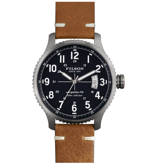 Filson 11000306 Mackinaw Field Stainless Blue Brown Leather Shinola