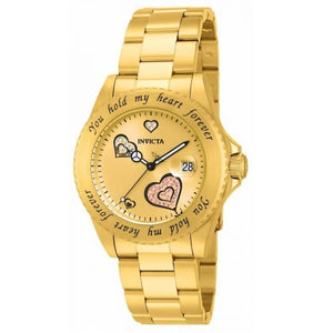 Invicta 14732 Angel All Gold Heart Dial Stainless Steel Women's