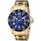 Invicta 17498 Pro Diver Gold Blue Bezel & Dial Stainless Steel