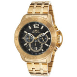 Invicta 21506 Specialty Gold Black Dial Chronograph Stainless Steel