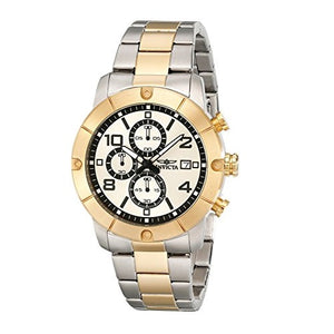 Invicta 17767 Specialty Two Tone Silver Gold Bezel Chronograph