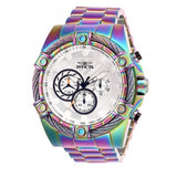 Invicta 25520 Bolt Iridescent Stainless Steel Chronograph Silver Dial