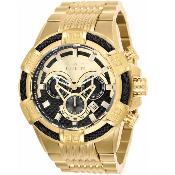 Invicta 25543 Bolt Gold Stainless Steel Chronograph Gold/Black Bezel