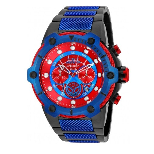 Invicta 25782 Marvel Spider Man Blue Red Stainless Steel Limited Edition