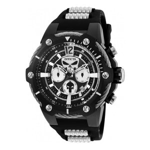 Invicta 25990 Marvel Punisher Black silicone Band Limited Edition Chronograph