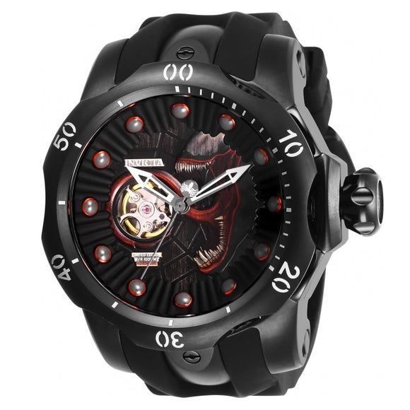 Invicta 26121 Marvel Venom Black Automatic Open Heart Limited Editions