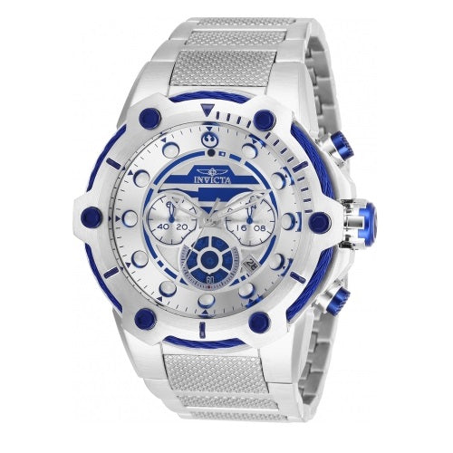 Invicta 26220 Star Wars R2-D2 Silver Blue Chronograph Limited Edition