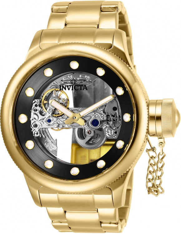 Invicta 26270 Russian Diver Gold Skeleton Stainless Steel Automatic