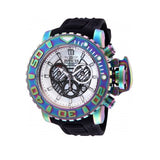 Invicta 26415 Sea Hunter Iridescent Black Silicone Band Stainless