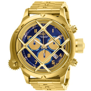 Invicta 26464 Russian Diver Nautilus Gold Chronograph Navy Blue Dial