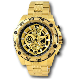 Invicta 26794 Speedway Marvel Captain America Gold Limited Edition