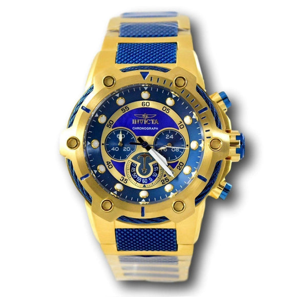 Invicta 26811 Bolt Gold Stainless Steel Blue Dial Chronograph