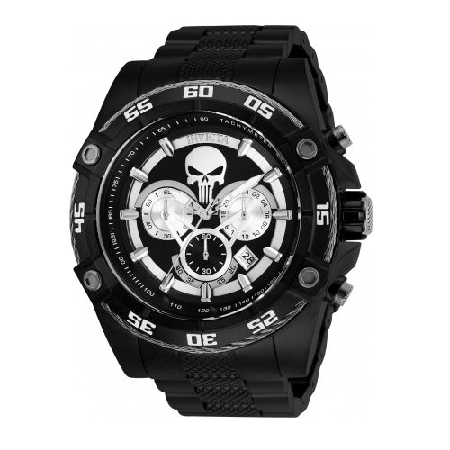 Invicta 26862 Bolt Marvel Punisher Black Stainless Steel Limited Edition