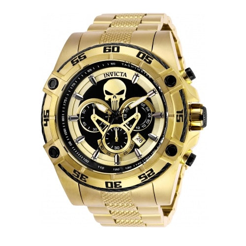 Invicta 26865 Speedway Marvel Punisher Gold Chrono Limited Edition