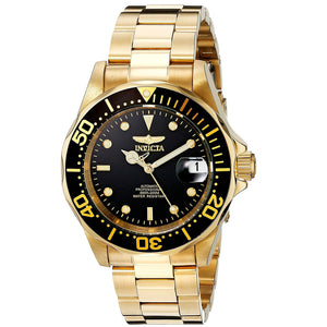 Invicta 89290B Pro Diver Gold Stainless Steel Automatic Black Dial 40MM NEW
