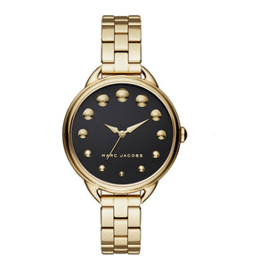 Marc Jacobs MJ3494 Betty Gold Black Dial Stainless Quartz