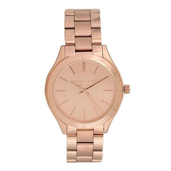 Michael Kors MK3513 Mini Slim Runway Rose Gold Dial Stainless Steel