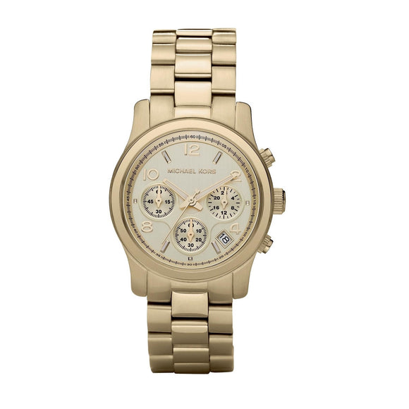 Michael Kors MK5055 Runway Gold Mid-Size Chronograph