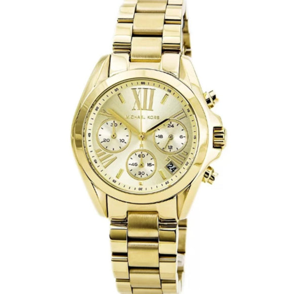 Michael Kors MK5798 Mini Bradshaw All Gold Stainless Steel