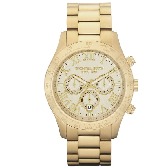 Michael Kors MK8214 Layton Gold Chronograph Date Stainless Steel