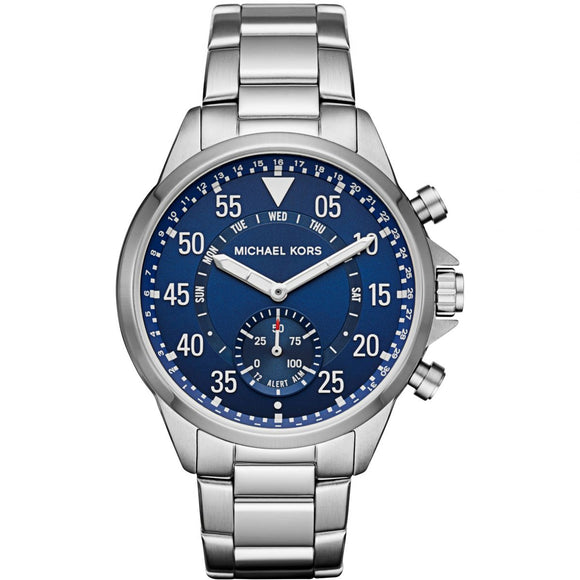 Michael Kors MKT4000 Access Silver Hybrid Smartwatch Blue Dial Stainless Steel