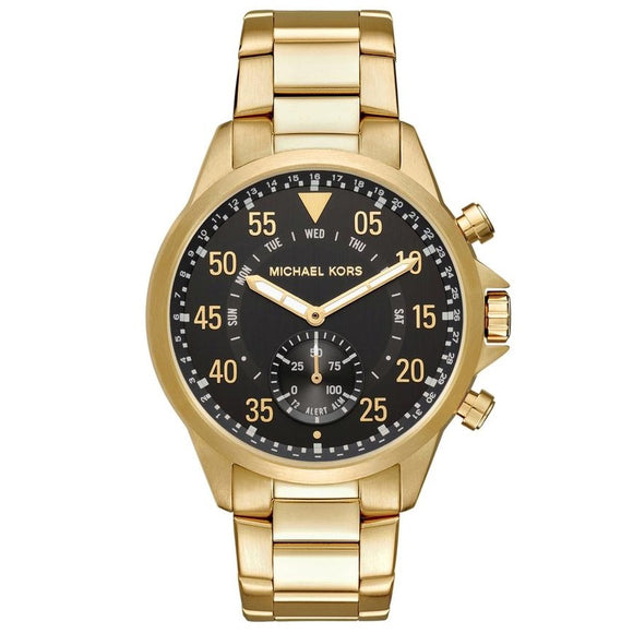 Michael Kors MKT4008 Access Gold Hybrid Smartwatch Black Dial Stainless Steel