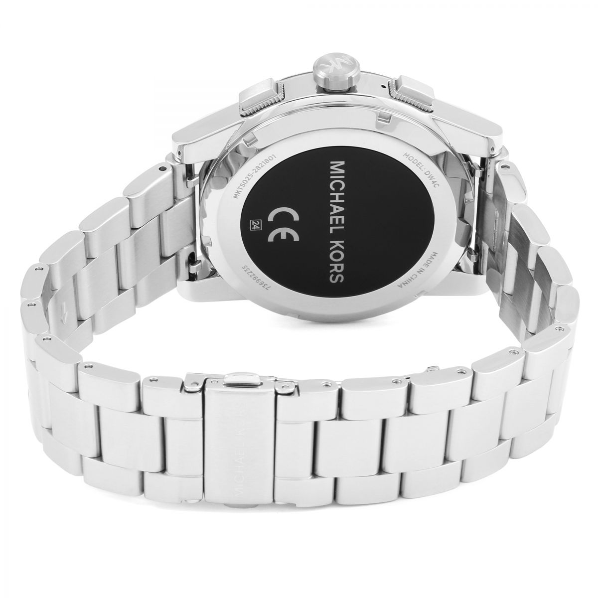 bcaf16c779f5 Michael Kors MKT5025 Access Silver Touch Screen Grayson Smartwatch ...