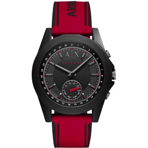 Armani Exchange AXT1005 Hybrid Connected Black Red Silicone Band Smart