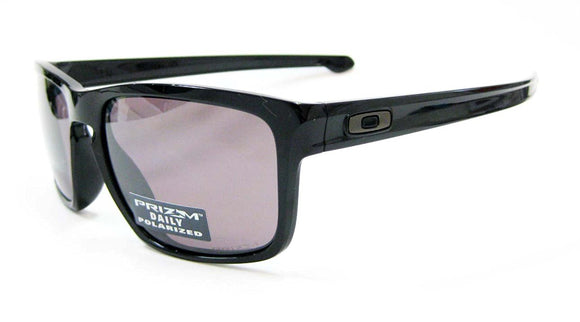 OAKLEY SILVER OO9269-05 Polished Black Prizm Daily Polarized Asian Fit