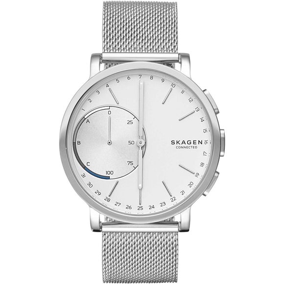 Skagen Connected SKT1100 Hagen Silver Hybrid Smartwatch Mesh Steel Band