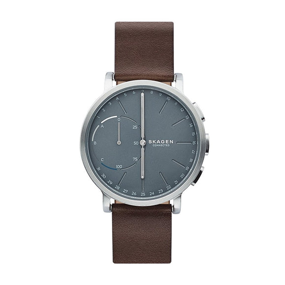 Skagen Connected SKT1110 Hagen Hybrid Smartwatch Brown Leather Band