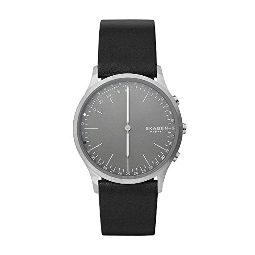 Skagen Connected SKT1203 Jorn Hybrid Smartwatch Black Leather Band