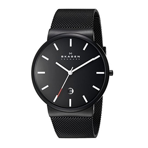 Skagen SKW6140 Ancher Black Dial White Accent Steel Mesh Strap 39MM