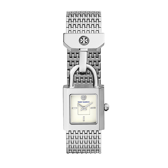 TORY BURCH TBW7101 Surrey Silver White Dial Lock Stainless Steel
