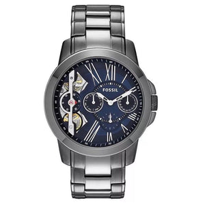 Fossil ME1146 Grant Twist Smoke Ion Plated Stainless Multi-function