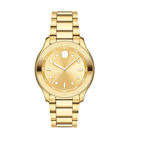 Movado 3600416 Bold All Yellow Gold Ion Plated White Accent Swiss