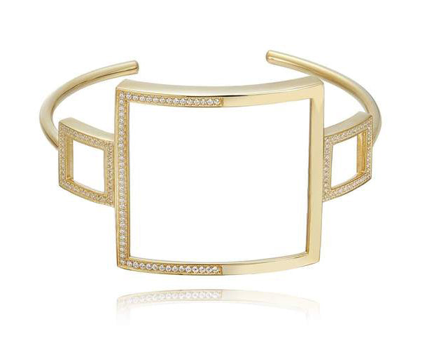kathryn new york fine jewelry skyline wire cuff yellow gold