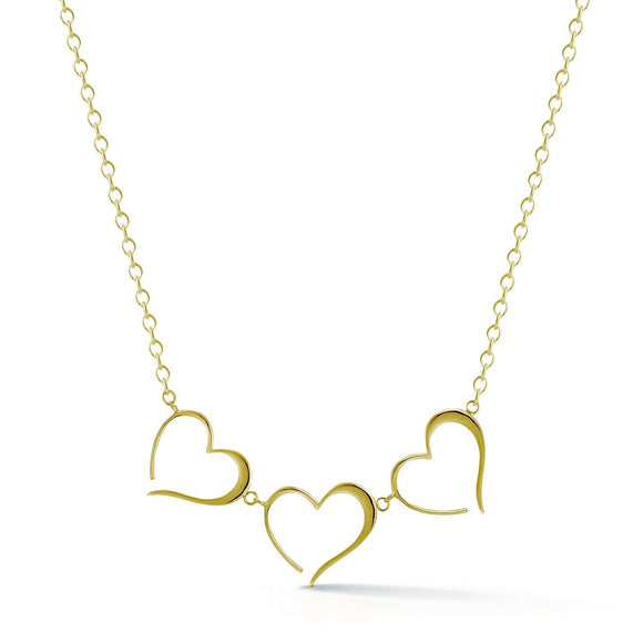 123 heart necklace necklaces KATHRYN New York Yellow Gold Vermeil Adjustable size 15.5 - 18.5 inches