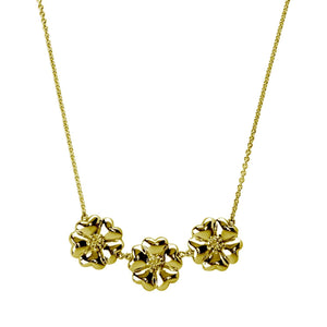 123 Large Blossom Flower Necklace