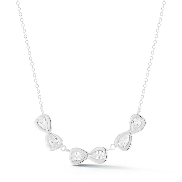 123 Large Infinity Stone Necklace necklaces KATHRYN New York 16 White Sapphire
