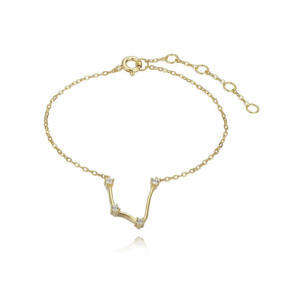 Aquarius Constellation Anklet