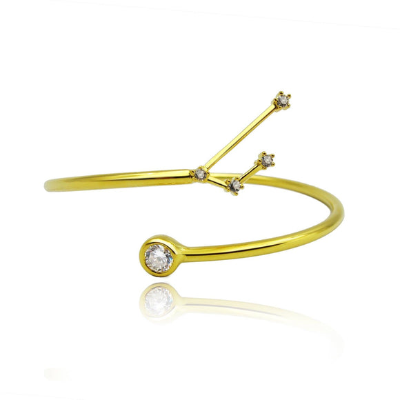 Aries Constellation Wire Bezel Cuff