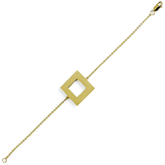 Big Square Chain Bracelet bracelets KATHRYN New York Yellow Gold Vermeil 6 inches