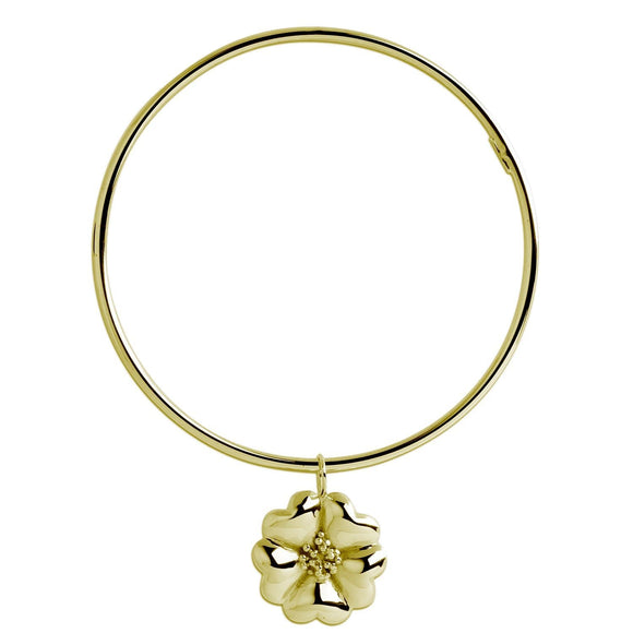 Blossom Dangle Women's Bangle Bracelet bracelets KATHRYN New York Yellow Gold Vermeil One Size Fits All