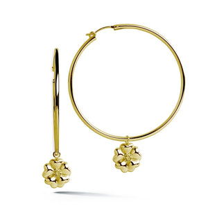 Blossom Dangle Hoop Earrings