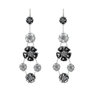 Blossom double-tier chandelier earrings